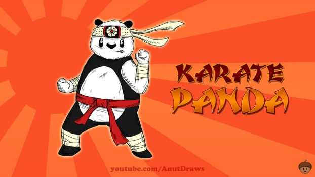 Karate Panda by AnutDraws