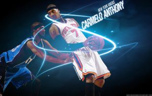 Carmelo Anthony Knicks Wall 7 by IshaanMishra