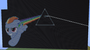Dark Side Of The Rainboom- Minecraft Pixel Art by LunaTheGoodMoon