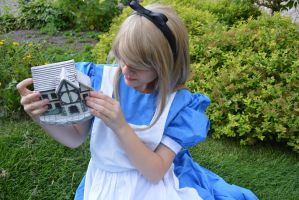 Alice in wonderland:searching for gloves by Iris-Iridescence
