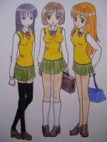 School Girls by Kitsune-Kari