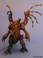 Steampunk Cthulhu Statue by shaungent
