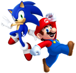 Mario and Sonic by Legend-tony980