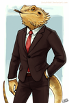 Bearded dragon by Lintufriikki