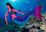 Aquaria swimming around (Mako Mermaids OC form) by crescentwolf01