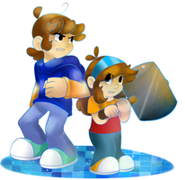 Luigi Jr and Maria - Dream team style by raygirl12
