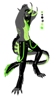 Green Male PVC Demon Adopt - CLOSED by ShadowInkAdopts