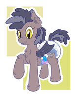 Poofy Fluff-ee Bat Pone by Hourglass-Sands