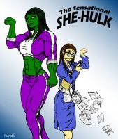 She-Hulk by Toegar Coloured by hotrod5