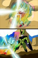 Hyper Sonic vs Perfect Cell by Skye-Izumi