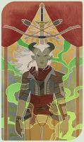 Inquisitor Lilith Adaar Tarot Card by handraw
