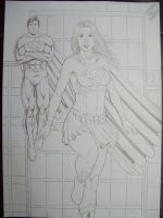 supergirl e superman 2010 by SUPERTIAGOF