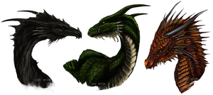 Age of Fire Dragon Trio by Isvoc