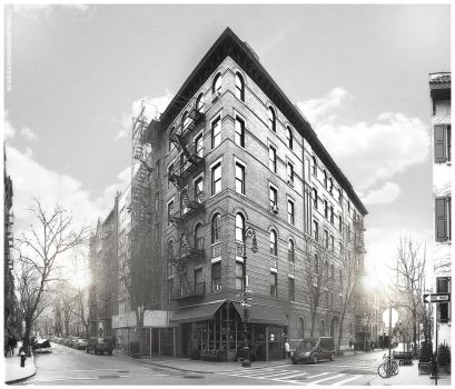 Friends Building at Grove and Bedford by crunklen