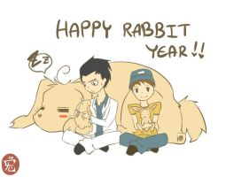 Happy RABBIT Year XD by KARUN09
