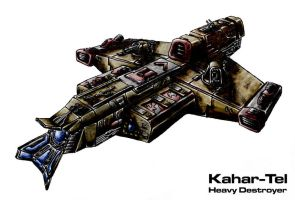 Kahar-Tel heavy destroyer by Progenitor89