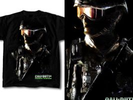 T-Shirt Design Call of Duty 04 by RobDuenas