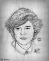 Harry Styles from One Direction by aaarenio