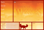 Cloudclan Reference Sheet - Dawn of Warriors by sparkeythehamster