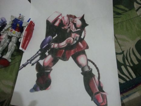 MS 06S Zaku II Char Aznable's Mobile Suit by Gabstronomy