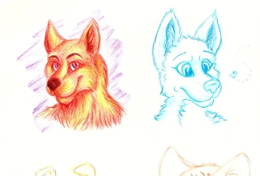 Quick colour sketches by RainbowCrumbs