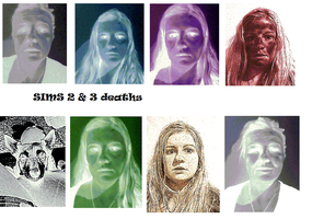Sims 2 and 3 death and ghosts by KatrinWinner