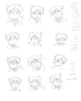6. Many Emotions of Conan by sonoci