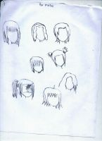Some hairstyles by PlottingYourDemise