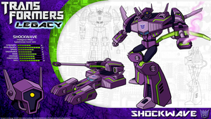 Transformers Legacy: Shockwave by CyRaptor