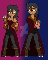 DG Gender Bender.:Circe and Cyrus:. by bleuberry109