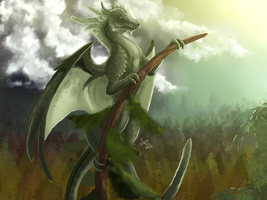 Forest Dragon Weathervane by Meerin
