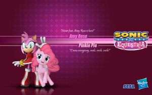 Sonic X Equestria: Amy and Pinkie Pie by Fuzon-S