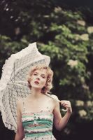 Parasols and raindrops. by ellylucas