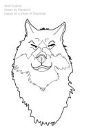 wolf face outlines by KIARAsART