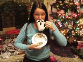 Another mustache mug wahahah by UxiCosplay
