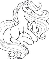 horse lineart by Miwa-MooCow