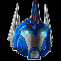 Ultra Magnus Helm Smile by Laserbot