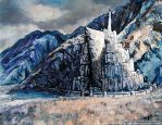 Minas Tirith by Art-deWhill
