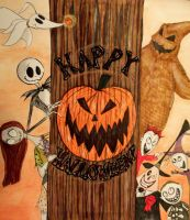 100 Faves! Happy Halloween Banner by DupleSnowflake