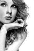Taylor Swift Pencil Drawing by theGaffney