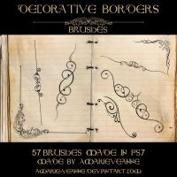 Decorative dividers by AmarieVeanne-Stock