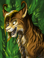 Lynx in the forest by Suzamuri