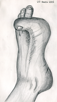 ArtBuddy - Foot studies - 03 - March 2015 by Summitwulf