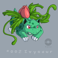 002: Ivysaur by pokehasu