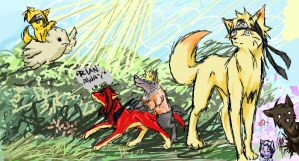 naruto wolf scribble by kyuubifred