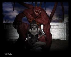 Demons and their pets... by vaia