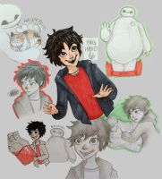 big hero 6 doodles by mox-ie