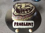 TROLL FACE CAKE by antenna-girl