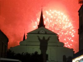 Fireworks Over Cathedral by ShadGirl654