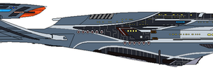 USS Aventine (Coloured) by Cotterill